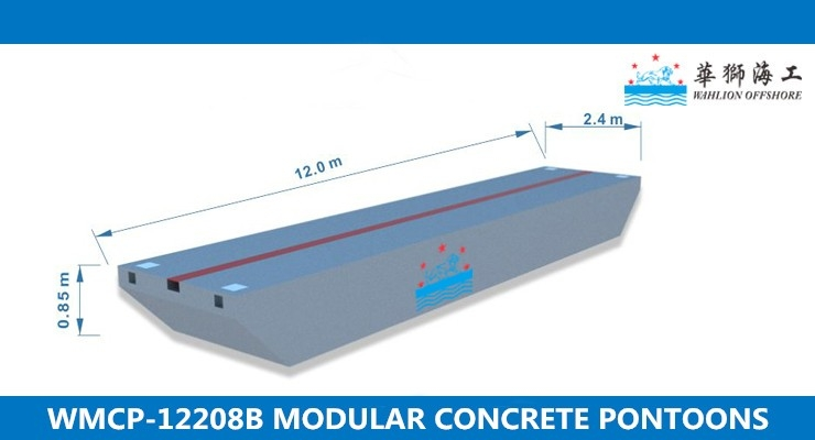 WMCP-12208B Concrete Pontoon